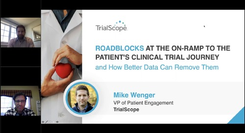 Roadblocks at the On-Ramp to the Clinical Trial Participant's Journey – and How Better Data Can Remove Them