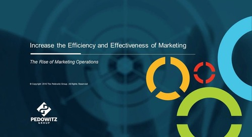 Webinar: Increase the Efficiency and Effectiveness of Marketing