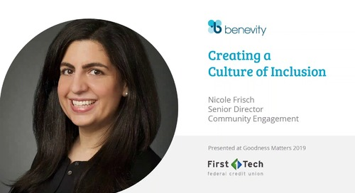 I10 - First Tech Financial - Nicole Frisch, Senior Director, Community Engagement