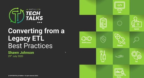 Tech Talk - Converting from a Legacy ETL Best Practices