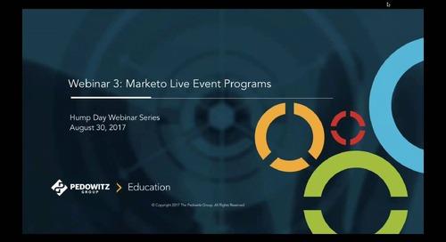 Hump Day Webinar Series - Marketo Live Event Programs