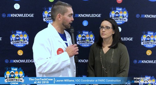 The ConTechCrew at AU 2018: Jeff Sample chats with Lauren Williams from PARIC