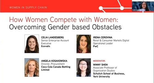 [Supply Chain Canada] How Women Compete with Women: Overcoming Gender Based Obstacles