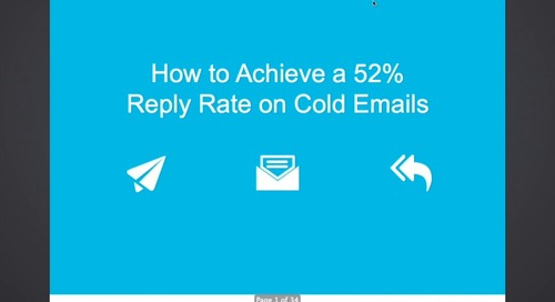 How To Achieve A 52% Reply Rate On Cold Emails