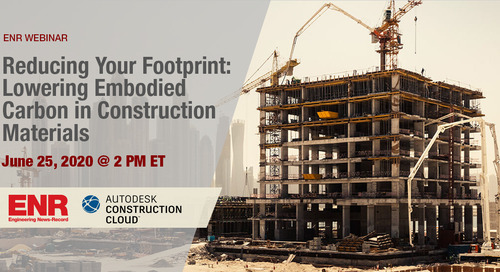 ENR On-Demand: Reducing Your Footprint: Lowering Embodied Carbon in Construction Materials