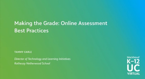 Online Assessment Best Practices