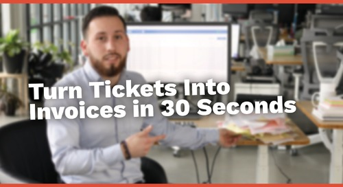 CONNEX Jobsite Tickets to Invoices in 30 Seconds