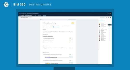 [Demo] BIM 360 Meetings