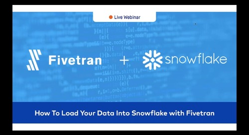 How To Load Data into Snowflake with Fivetran
