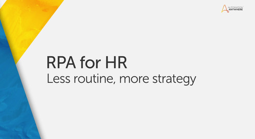 RPA for HR: Automate Manual HR Processes