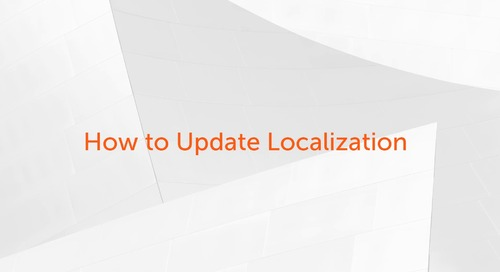 Enterprise A2019 - How to Update Localization