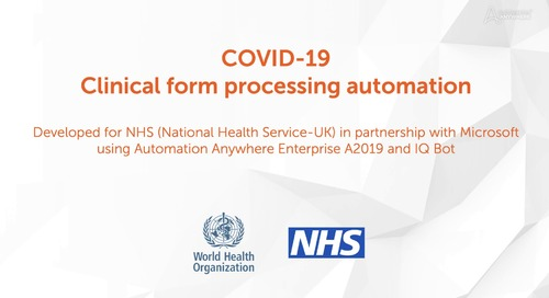 COVID-19 Clinical form processing automation