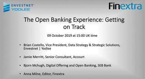 On-Demand Webinar: The Open Banking Experience: Getting on Track