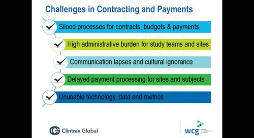 Speed, Efficiency and Accuracy in Site Contracts and Payments