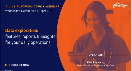 Data Exploration - Features, reports and insights for your daily operations - Live Platform Tour