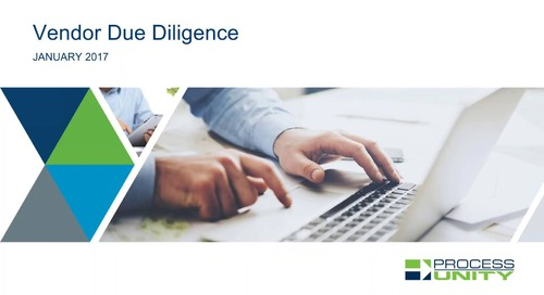 Vendor Due Diligence Best Practices