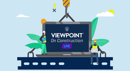 A Viewpoint on Construction Live - June 24, 2020 -  A Customer's Perspective