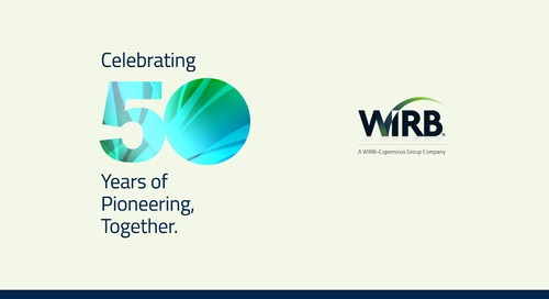 WIRB 50: Celebrating 50 Years of Pioneering, Together