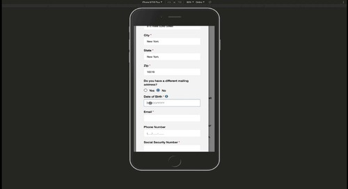 Demo: Unqork Virtual Government Service Application