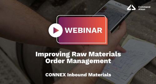 Improving Raw Materials Order Management