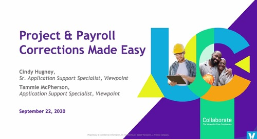 Project & Payroll Corrections Made Easy with ProContractor