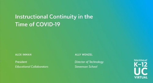 Instructional Continuity in the Time of Covid-19