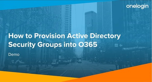 How to Provision Active Directory Security Groups into O365