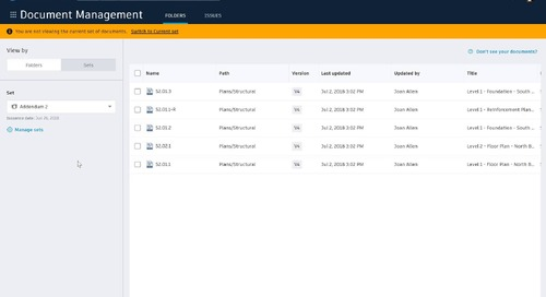 BIM 360 Document Set Management