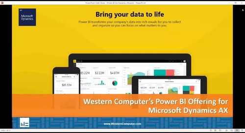 Western Computer's Power BI Offering for Microsoft Dynamics AX