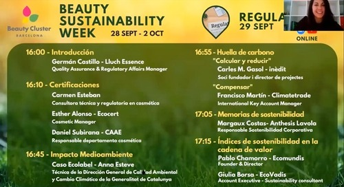 Beauty Sustainability Week 2020