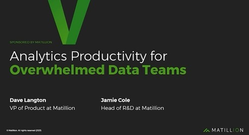 Webinar - Improved Analytics Productivity