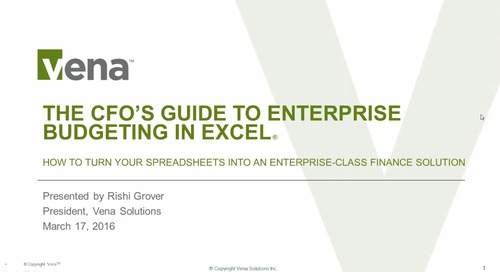The CFO's Guide to Enterprise Budgeting in Excel