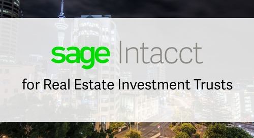 Sage Intacct for Real Estate Investment Trusts