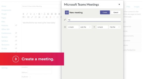Microsoft Teams Meetings + Canvas: In The Classroom