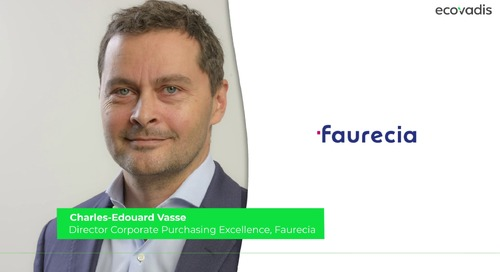 Charles-Edouard Vasse, Director Corporate Purchasing Excellence Talks About How Sustainability Is At The Center of Creating Value