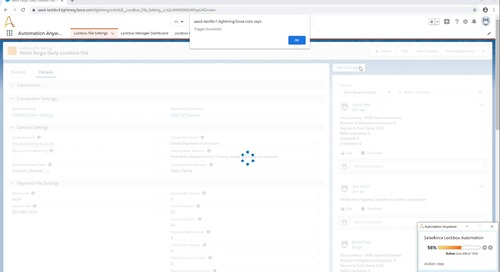 Lockbox Automation on Salesforce