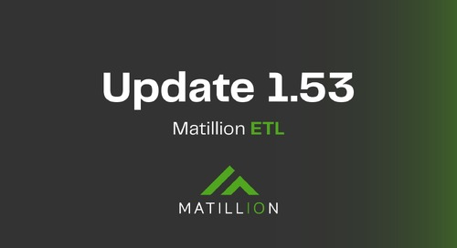 Matillion ETL | Update 1.53 Video