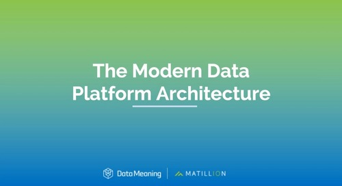 Webinar - The Modern Data Platform Architecture