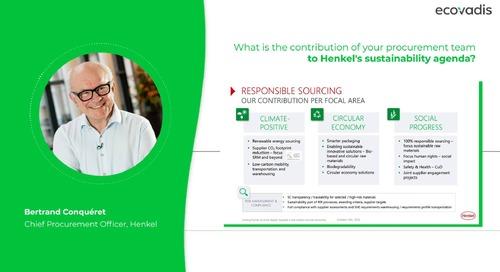 ¿Cuál es la contribución del  equipo de compras a la agenda de sostenibilidad de Henkel?