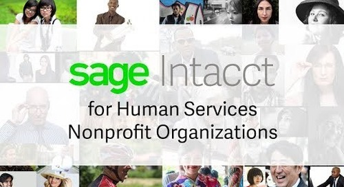 Sage Intacct for Human Services Nonprofit Organizations