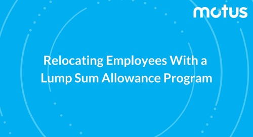 Relocating Employees With a Lump Sum Allowance Program