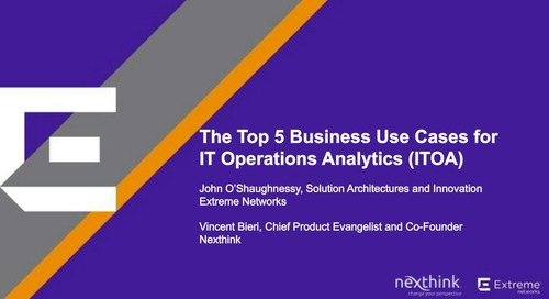 Top 5 Business Use Cases for ITOA
