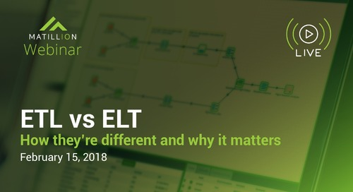Webinar | ELT vs. ETL - How They're Different and Why It Matters