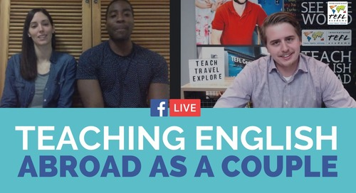 Teaching English Abroad as a Couple in South Korea - TEFL Facebook Live