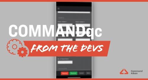 Introducing COMMANDqc | Version 2021.1