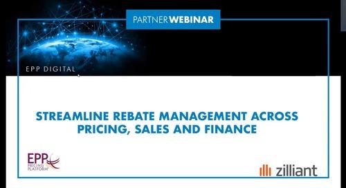 European Pricing Platform - Streamline Rebate Management across Pricing, Sales and Finance