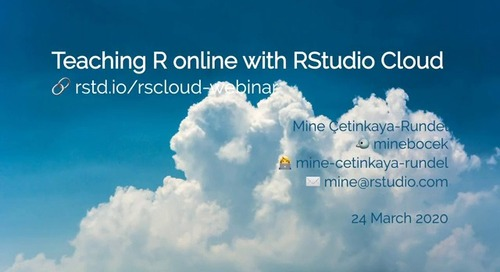 Teaching R online with RStudio Cloud