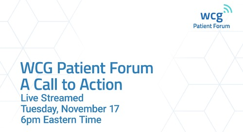 WCG Patient Forum Promo Video