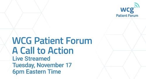 WCG Patient Forum Promo Video