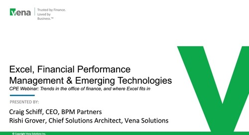 Vena & BPM Partners: Excel, Financial Performance & Emerging Technologies